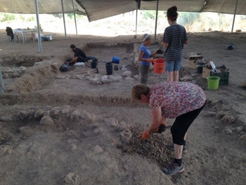 One of the metal working areas found in the Philistine city of Gath