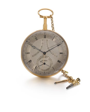 A timepiece from David Salomons' collection, which may or may not go under the auctioneer's hammer at Sotheby's.