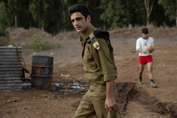 """Imri Biton as Jacky Alush in """"Valley of Tears,"""" which adds Mizrahi-Ashkenazi clashes to the Yom Kippur War."""