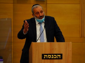 Interior Minister Arye Dery at the Knesset in July, 2020.