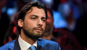 Dutch politician Thierry Baudet of the Forum for Democracy party on the eve of European elections in Amsterdam, Netherlands, May 22, 2019.