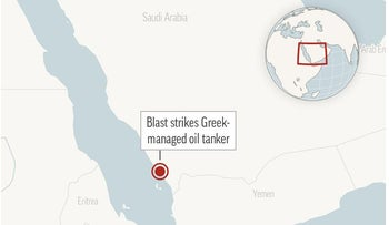 Locator map shows the approximate location of the mine blast that damaged the MT Agrari, a Maltese-flagged, Greek-managed oil tanker near Shuqaiq, Saudi Arabia.