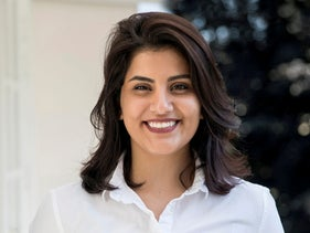 Saudi women's rights activist Loujain al-Hathloul is seen in this undated handout picture.