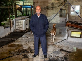 Mohammad Sabag in his home in Sheikh Jarrah, East Jerusalem, November 24, 2020.