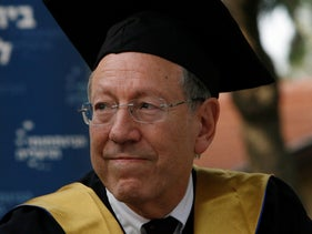 Irwin Cotler at a 2010 ceremony at the Interdisciplinary Center Herzliya.