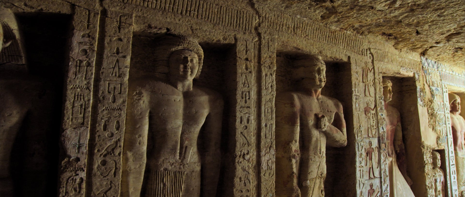 From the film Secrets of                the Saqqara Tomb.