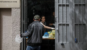 The Lasova soup kitchen in Tel Aviv, March 2020.
