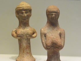 Female figurines found in Israel from the First Temple period