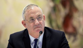 Benny Gantz attends a cabinet meeting in the Knesset in Jerusalem May 24, 2020.