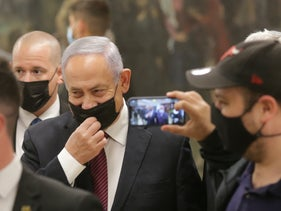 Prime Minister Benjamin Netanyahu in the Knesset, December 2, 2020.