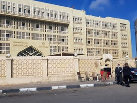 View of the New Cairo Courthouse, where an interrogation session was held for arrested members of the Egyptian Initiative for Personal Rights, in New Cairo, Egypt, November 23, 2020.