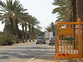 The entrance to gated Kibbutz Nirim in Israel's south, November 2019.