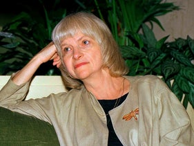 This September 1988 file photo shows author Alison Lurie in New York. Pulitzer Prize winning novelist Lurie has died at age 94. Her husband, Edward Hower, says the author died Thursday, Dec. 3, 2020, of natural causes