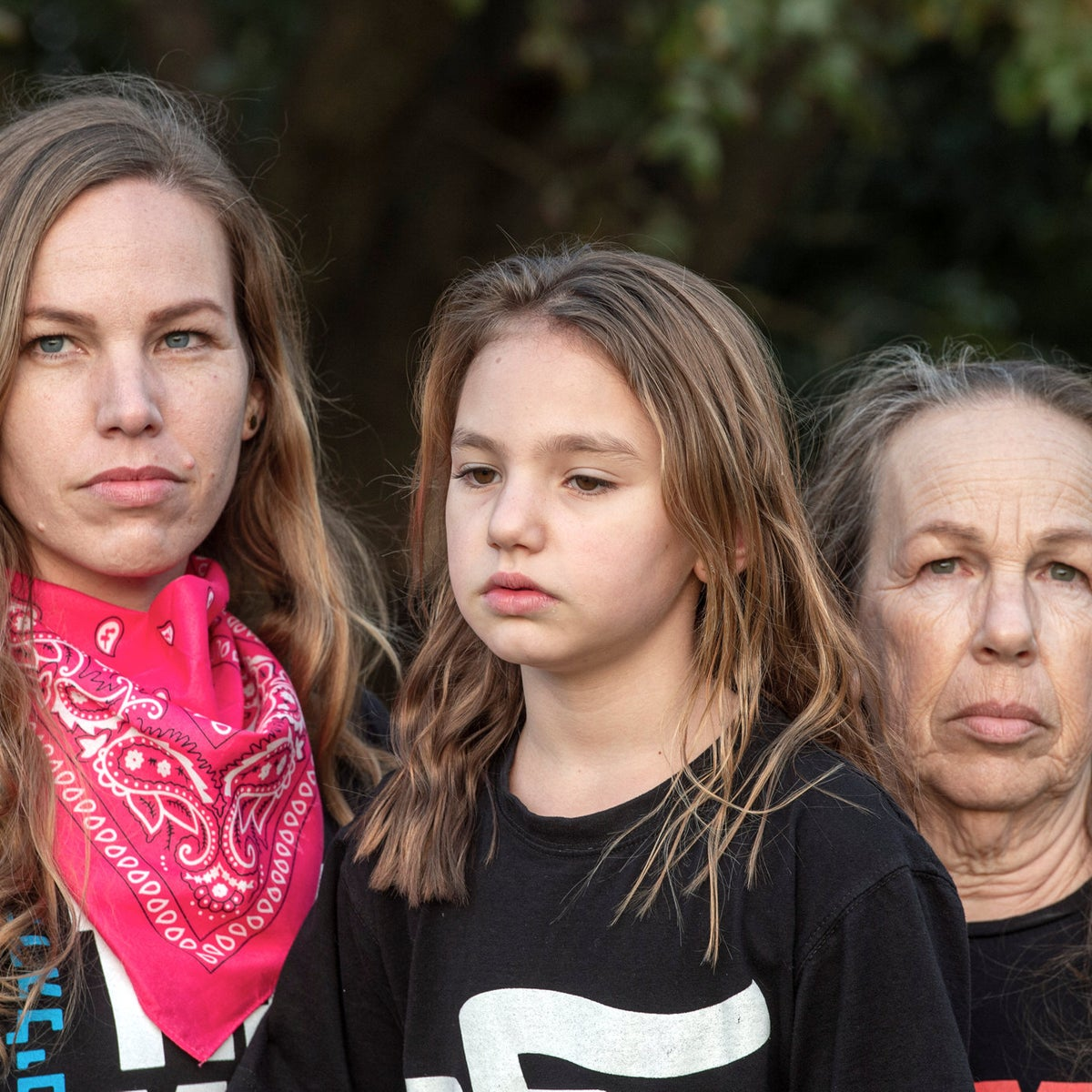 Yael Shmueli, left, her daughter Ofer and mother Nira. 'It made me feel that it's important to continue what we're doing.'