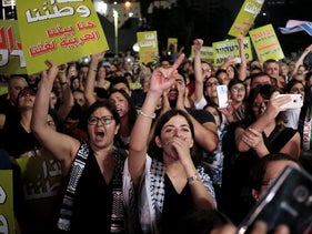A protest against the nation-state law in Tel Aviv, August 2018.