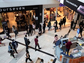 The newly reopened Ayalon Mall in Ramat Gan on November 27, 2020.