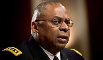 In this file photo taken on March 8, 2016 Army General Lloyd Austin III, commander of the US Central Command, speaks during a hearing of the Senate Armed Services Committee in Washington, DC
