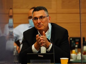 Lawmaker Gideon Sa'ar in the Knesset, July 7, 2020.