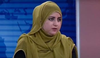 Malala Maiwand, an Afghani TV anchor who was killed by gunmen on December 10, 2020.