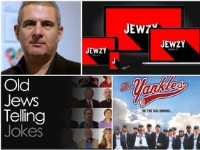 Jewzy founder and CEO Jeremy Wootliff, with some of the content on the new streaming service.