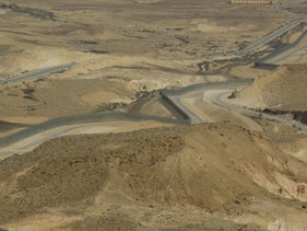 A section of Route 10, which runs along the Egyptian border in the Negev.