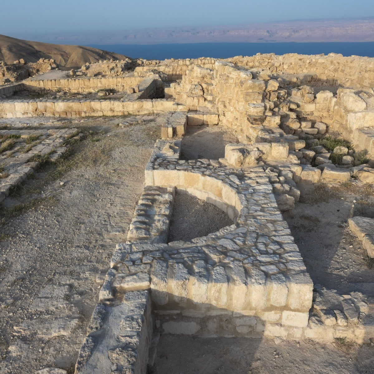 The semi-circle apsidal niche of the royal Herodian throne seat
