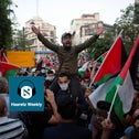 Palestinians protest normalization agreements between Israel and the Gulf states of the UAE and Bahrain, Ramallah, September 15, 2020.