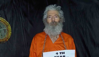 An undated handout photo provided by the family of Robert Levinson after they received it in April 2011.