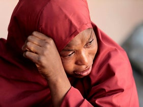 The mother of Muhammad Bello, one the students who was abducted by gunmen, in northwestern Katsina state, Nigeria December 14, 2020.