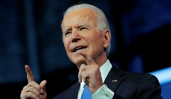U.S. President-elect Joe Biden delivers a televised address to the nation, after the U.S. Electoral College formally confirmed his victory over President Donald Trump in the 2020 U.S. presidential election in Delaware, December 14, 2020.
