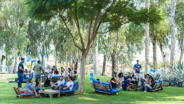 Students from all over the world at the IDC Herzliya campus