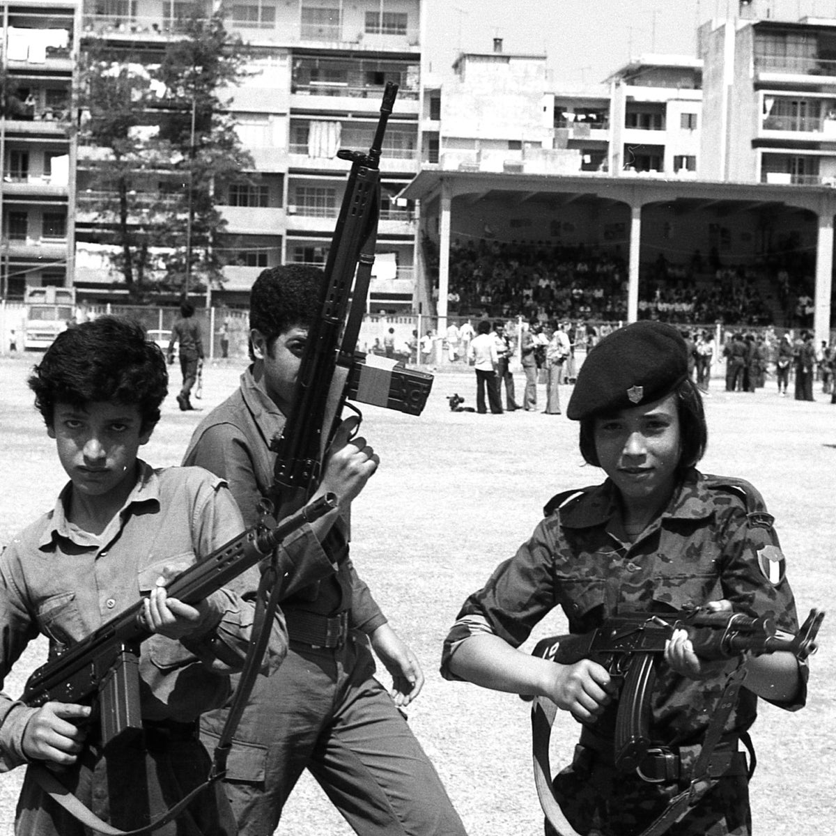 Young Palestinians in Beirut, 1975, from the documentary series on Lebanon.