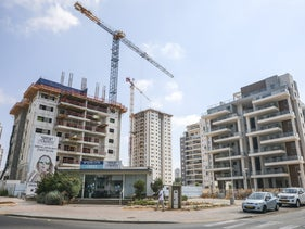 High rises going up in Tel Aviv suburb of Beer Yaakov