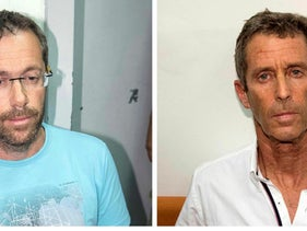(L-R) Israeli businessmen Tal Silberstein, Beny Steinmitz face 5 years in Romanian prison for bribery charges.