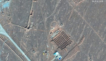 Maxar Technologies shows construction at Iran's Fordo nuclear facility. Iran has begun construction on a site at its underground nuclear facility at Fordo amid tensions with the U.S. over its atomic program, satellite photos obtained Friday, December 18, 2020