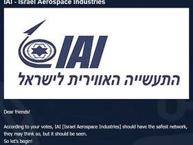 Iranian-linked hackers announcing they targeted IAI (Israel Aerospace Industries), December 20, 2020.