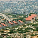 A view of the Jewish settlement of Ganim, near the Palestinians town of Jenin in the northern west Bank, July 3, 2005.