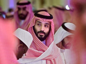 Saudi Crown Prince Mohammed bin Salman arrives at the Future Investment Initiative FII conference in the Saudi capital Riyadh, October 24, 2018.