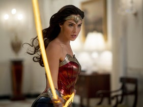"""Gal Gadot with the Lasso of Truth in """"Wonder Woman 1984."""""""