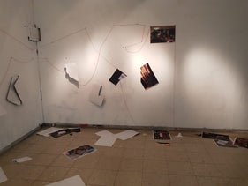 The vandalism of the exhibition, December 29, 2020