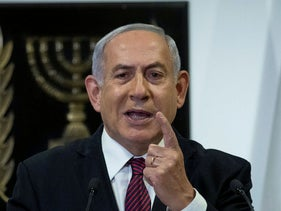 Netanyahu delivers a statement at the Knesset in Jerusalem, December 22, 2020.