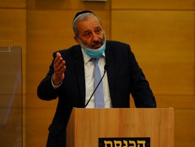 Interior Minister Arye Dery in the Knesset in Jerusalem, July 7, 2020.