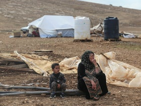 A Palestinian village in the Jordan Valley that was demolished by Israel's Civil Administration, November 2020.