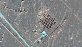 A satellite photo by Maxar Technologies shows construction at Iran's Fordo nuclear facility. December 11, 2020.