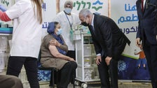 Benjamin Netanyahu during a visit to a health clinic in Tira on December 31, 2020.