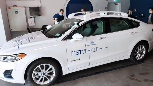A self-driving Ford vehicle.