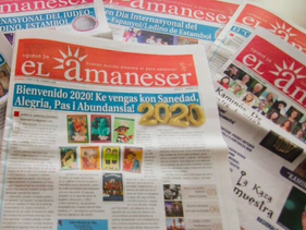 Copies of the Istanbul-based Al Amaneser, until a few months ago the only regularly published Ladino language newspaper in the world
