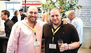 Founders Shalev Hulio (right) and Omeri Lavi (left).