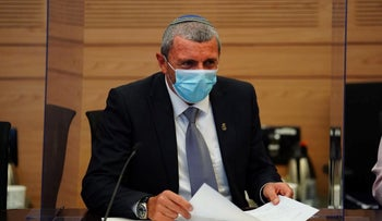 Habayit Hayehudi Chairman Rafi Peretz at the Knesset, Jerusalem, July 2020.