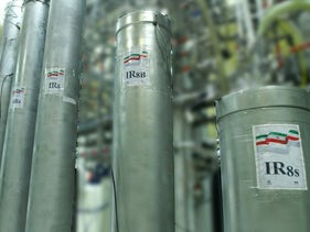 A handout picture released by Iran's Atomic Energy Organization shows the atomic enrichment facilities Natanz nuclear research center, some 300 kilometres south of capital Tehran, November 4, 2019.